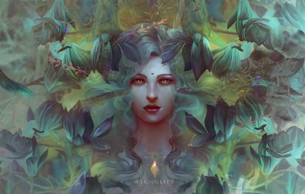 Picture girl, fantasy, art, illustration, Illustrator, Magnolia, triad, Au79 - Magnoliet, Mady Magnoliet