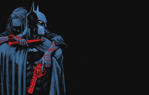 Picture Red, Black, Knife, Batman, Costume, Weapons, Hero, Mask, Comic, Red, Tattoo, Cloak, Superhero, Tattoo, Gun, ...