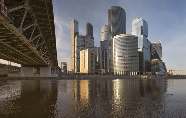 Picture Bridge, River, Moscow, Building, Russia, Russia, Bridge, Moscow, Moscow-City, River, Buildings, Moscow City