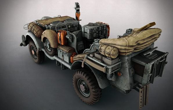 Picture machine, art, Matthias Develtere, SCI-FI WW2 Jeeps