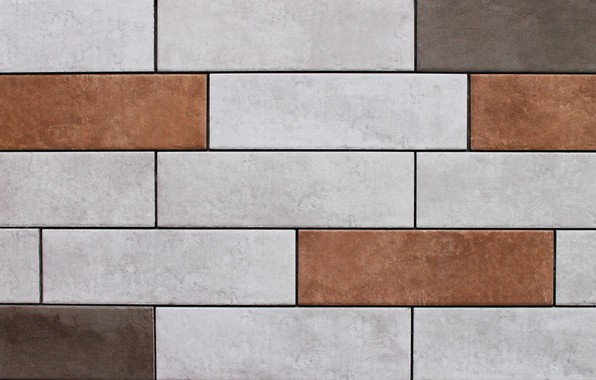 Picture macro, background, wall, stone, Tile, rectangular tiles, ceramic tile, tiles of different colors, colored tiles