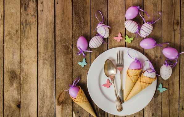 Picture eggs, spring, plate, Easter, horn, wood, spring, Easter, eggs, decoration, Happy, waffle