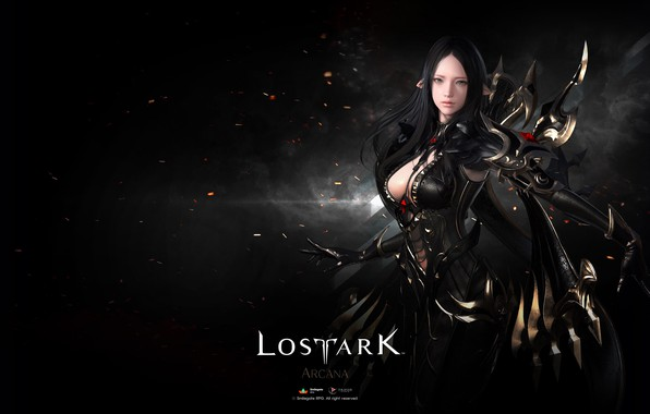 Picture girl, background, elf, Lost Ark