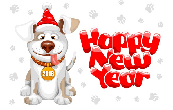 Picture holiday, new year, dog, new year, dog, year, 2018, dog year