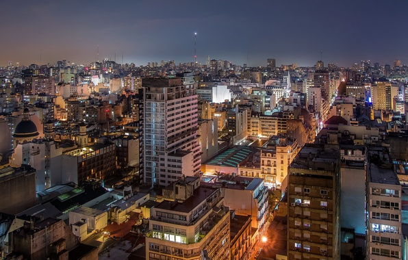 Picture Argentina, night, cityscape, Buenos Aires, urban scene