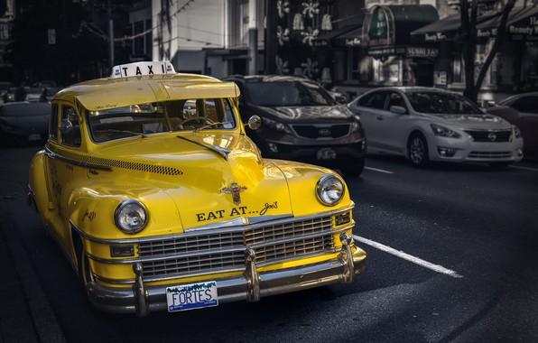 Picture retro, street, car, classic