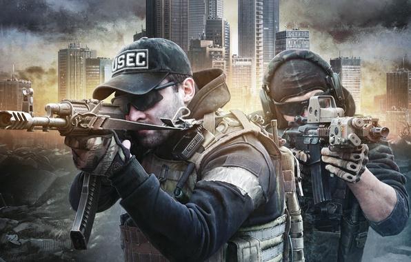 Wallpaper Mercenaries Usec Escape From Tarkov Ak M4