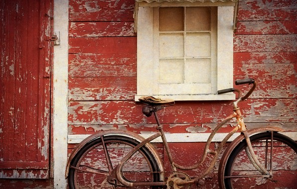 Picture bike, house, window