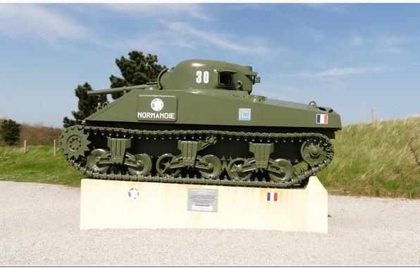 Picture normandy, sherman tank, ww2 tank, utha beach