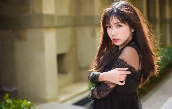 black dress Asian