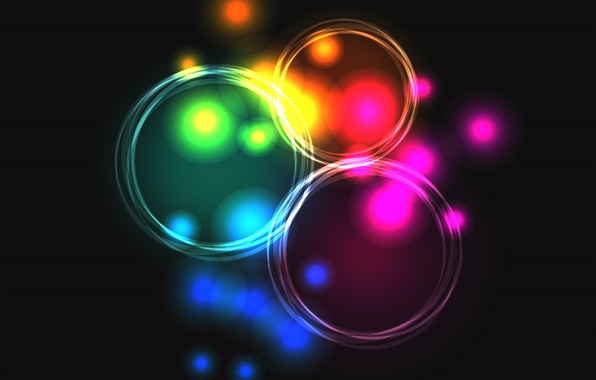 Picture lights, lights, background, colors, abstract, rainbow, background, neon, neon