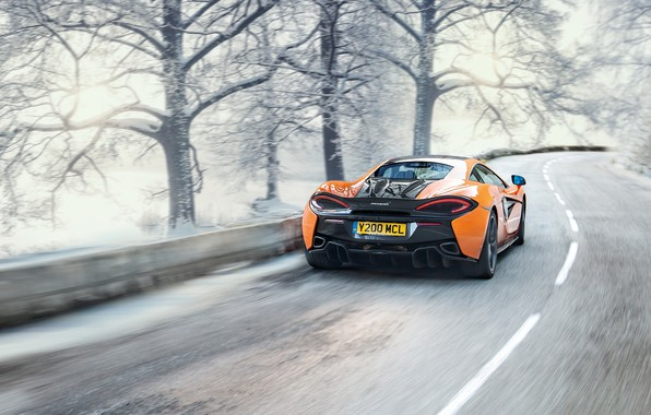 Picture winter, supercar, McLaren 570S