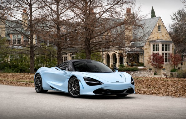 Picture house, trees, Mclaren, 720s