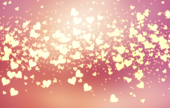 Photo wallpaper hearts, love, pink, background, romantic, hearts, bokeh, Valentine's Day