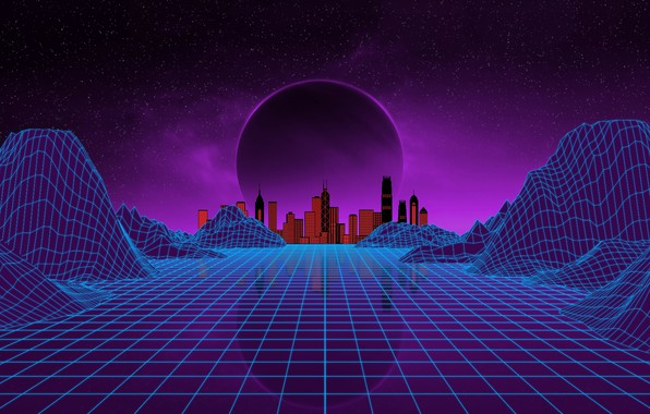 Picture Music, The city, Stars, Neon, Planet, Space, Background, Electronic, Synthpop, Darkwave, Synth, Retrowave, Synth-pop, Sinti, …