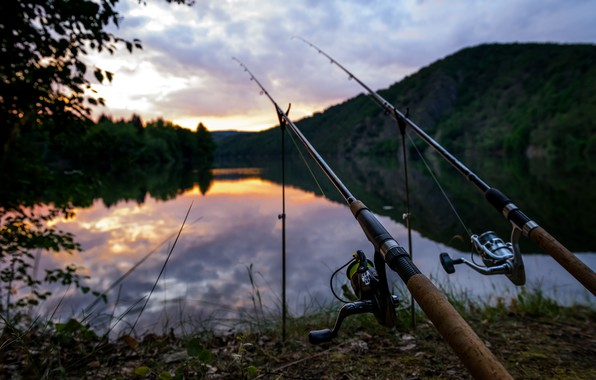 Picture summer, landscape, blur, bokeh, fishing rods, view, travel, wallpaper., Czech Republic, the Vltava river, my …