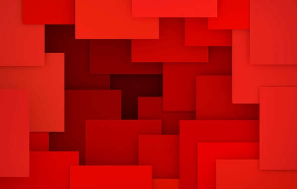 Picture abstract, red, design, background, geometry, geometric shapes, 3D rendering