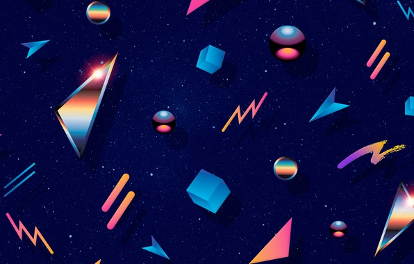 Wallpaper space cuba triangles 80s images for desktop - Space 80s wallpaper ...