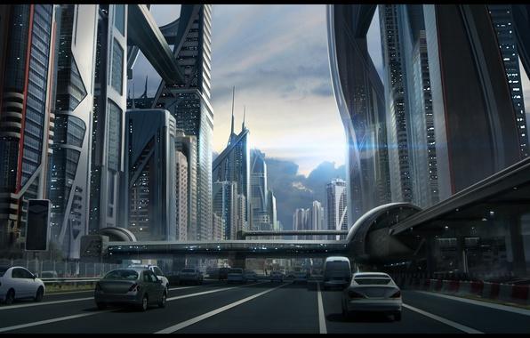 futuristic road wallpaper - photo #6