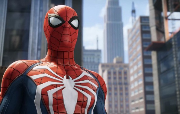 Picture The city, The game, Costume, Building, City, Hero, Mask, Superhero, Hero, Marvel, Spider-man, Game, Comics, …