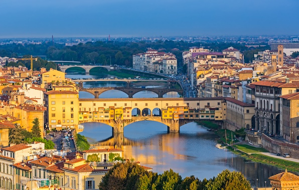 Picture bridge, city, the city, Italy, Florence, Italy, bridge, panorama, Europe, view, Florence, cityscape, Toscana, travel, …