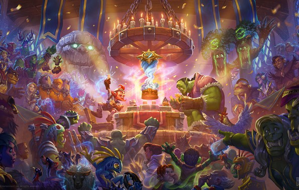 Picture card, magic, the game, MAG, Blizzard, Goblin, art, druid, world of warcarft, priest, warlock, Hearthstone