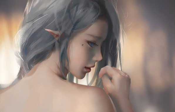 Picture kawaii, girl, beautiful, pretty, elf, skin, bishojo