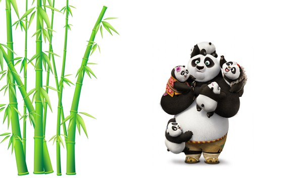 Photo Wallpaper Mood Bamboo Art Panda Childrens Kung Fu 3