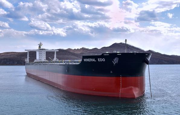 Photo wallpaper sea, a bulk carrier, the cargo ship, the ship, Mineral Edo, sea