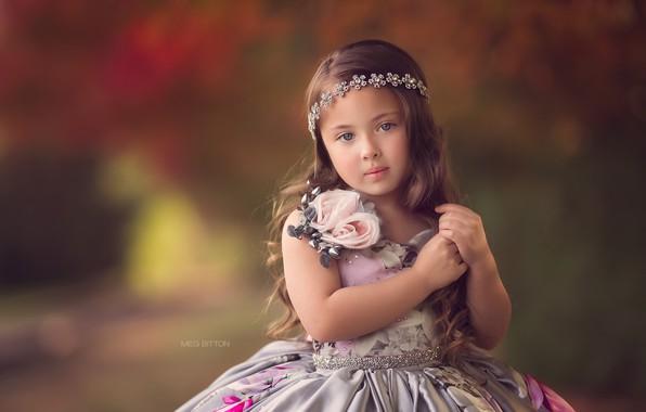 Picture look, background, portrait, dress, girl, bokeh