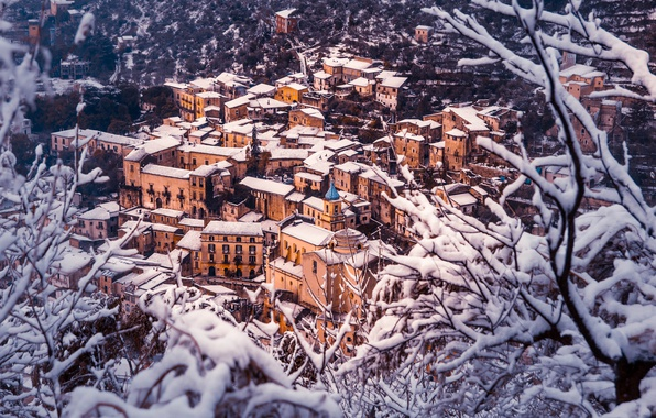 Picture Home, Winter, Snow, Panorama, Roof, Italy, Building, Winter, Italy, Snow, Italia, Panorama, Piedimonte Matese, Piedimonte …