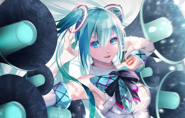 Picture Hatsune Miku, Vocaloid, smile