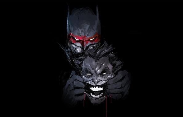 Picture Batman, Joker, bat, hero, DC Comics, yuusha