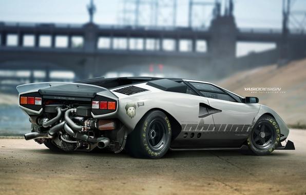 Picture car, auto, tuning, car, tuning, Lamborghini Countach, Yasid Design, Yasid Oozeear