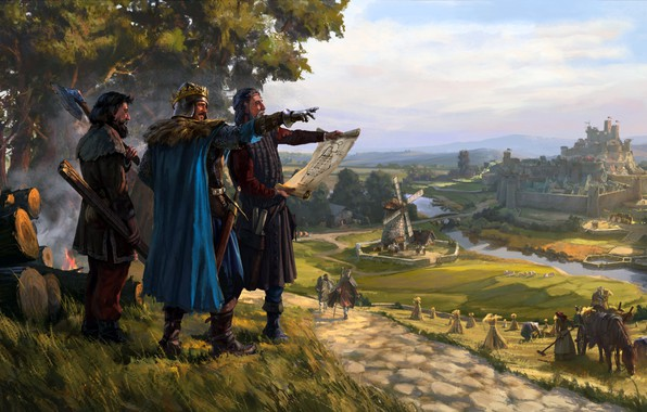 Picture KINGDOM, Creative Assembly, turn-based strategy, vilius petrauskas, Total War Battles, the life in the realm
