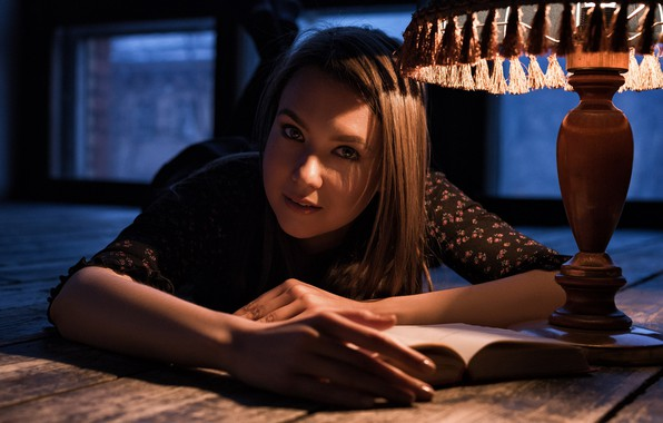 Picture look, face, lamp, hands, book, on the floor, Max Pyzhik, Maxim Fawn, Nastya Konovalova