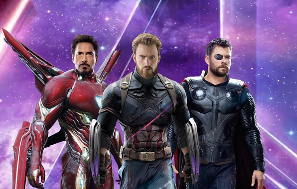Picture fiction, poster, Iron Man, comic, costumes, Captain America, superheroes, Thor, MARVEL, Avengers: Infinity War, The …