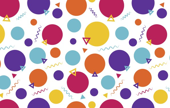 Picture purple, circles, orange, abstraction, yellow, background, blue