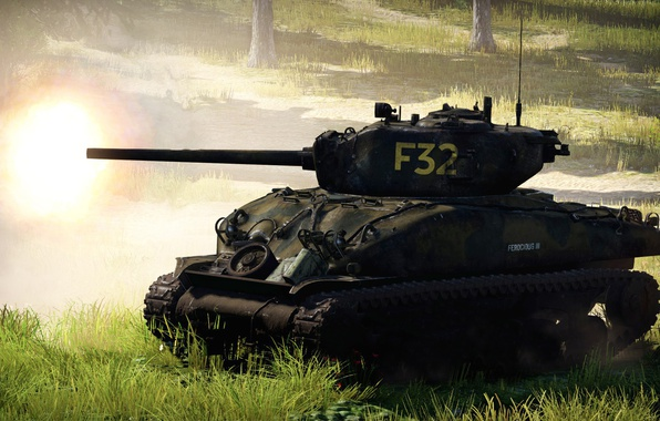Picture background, war, tank, War Thunder