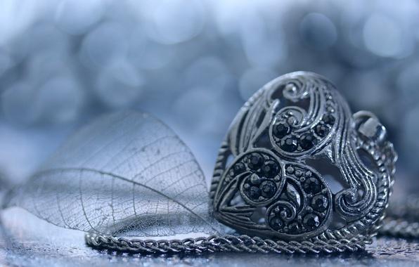 Picture heart, pendant, decoration, pebbles