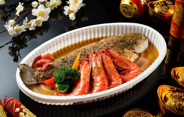 Picture food, fish, dish, shrimp, seafood