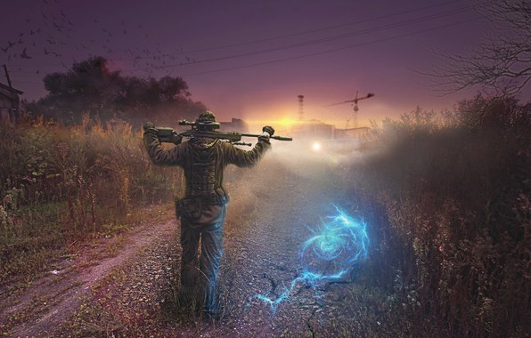 Picture Stalker, sniper, Stalker, Chernobyl, Art, anomaly