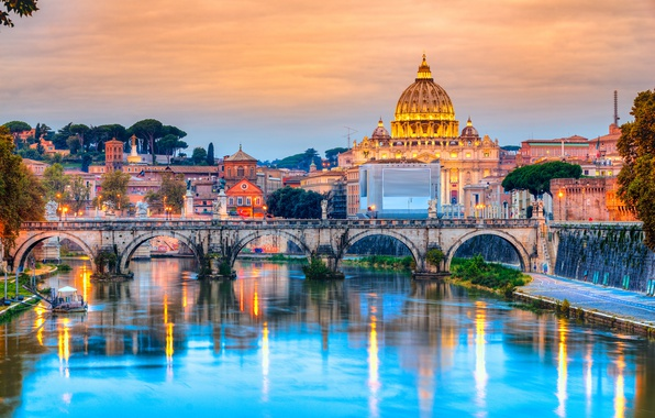 Picture city, the city, Rome, Italy, Italy, Cathedral, panorama, Europe, view, Rome, travel, Vatican, basilica