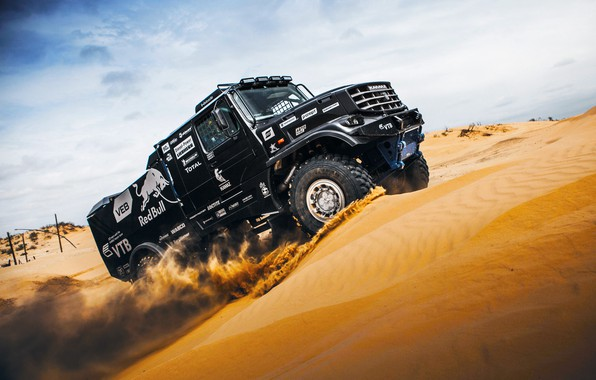 Picture Sand, Nature, Sport, Speed, Truck, Race, Master, Russia, Beast, Kamaz, Rally, Rally, KAMAZ, The roads, …