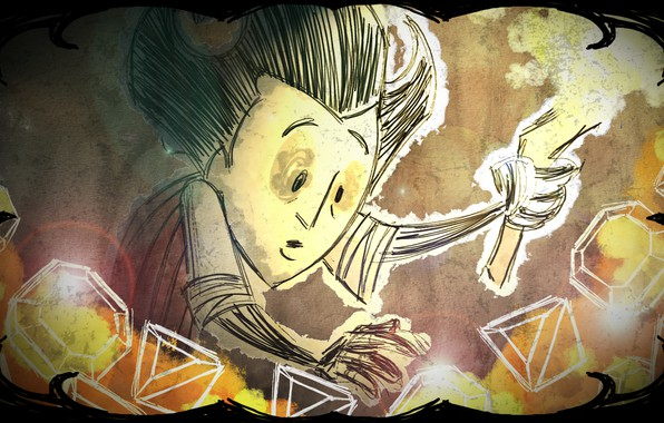 Picture stones, the game, surprise, torch, game, Wilson, Wilson, Don't Starve, torch, precious, Starve