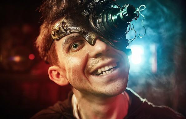 Picture face, grin, guy, Crazy photographer, Kirill Golovan