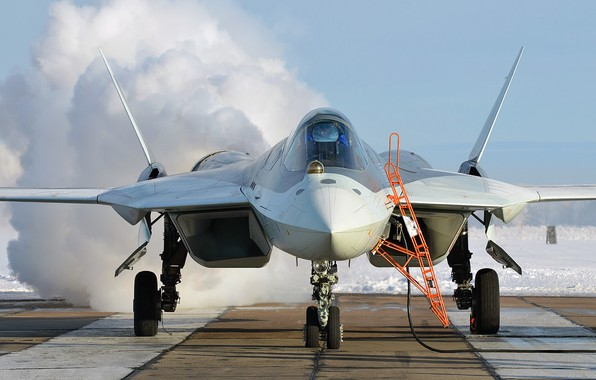 Picture T-50, PAK FA, tactical aviation, the fifth generation fighter, Su-57, OKB imeni P. O. Sukhoi, …