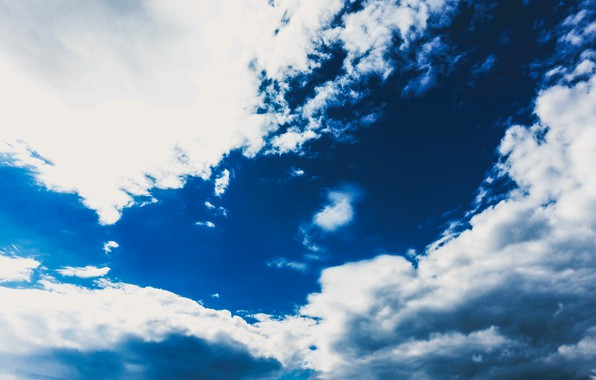 Picture the sky, clouds, blue, sky, clouds
