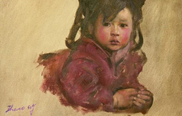 Picture girl, Chinese, HongNian Zhang, 5littleprincess