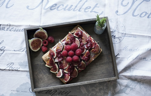 Picture Berries, Cake, Raspberry, Cake, figs